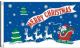 Merry Christmas Blue Large Christmas Flag - 5' x 3'.